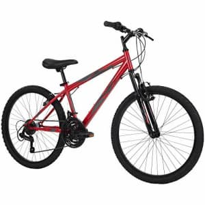 Huffy Hardtail Mountain Bike, Stone Mountain 24-26 inch 21-Speed, Lightweight, Gloss Red for $107