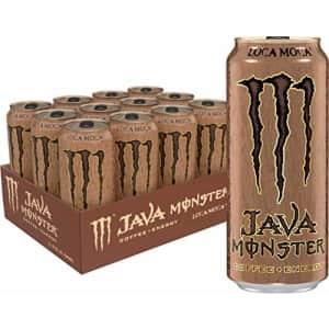Monster Energy Java Monster Loca Moca, Coffee + Energy Drink, 15 Ounce (Pack of 12) for $31