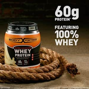Body Fortress Super Advanced Whey Protein Powder, Gluten Free, Chocolate, 5 Lbs for $34