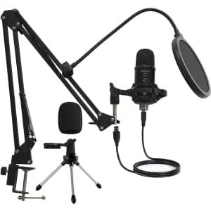 Mirfak USB Microphone Professional Kit for $73