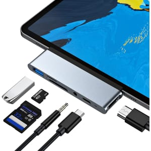 6-in-1 USB C Hub for iPad Pro for $28