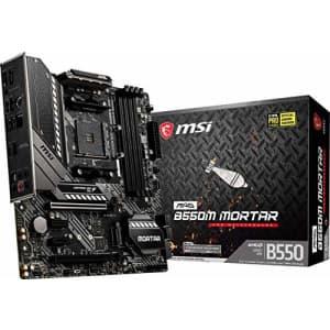 MSI MAG B550M Mortar Gaming Motherboard (AMD AM4, DDR4, PCIe 4.0, SATA 6Gb/s, M.2, USB 3.2 Gen 2, for $135