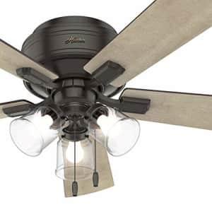 Hunter Fan 52 inch Noble Bronze Finish Ceiling Fan with LED Light Kit, 5 Blade (Renewed) for $85