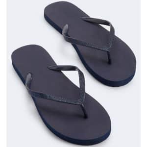 Aeropostale Women's Glitter Strap Flip-Flops for $4