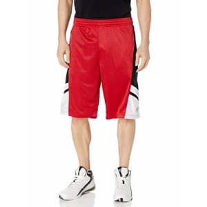 Southpole Men's Big and Tall Basic Basketball Mesh Shorts, Red, 6XB for $12