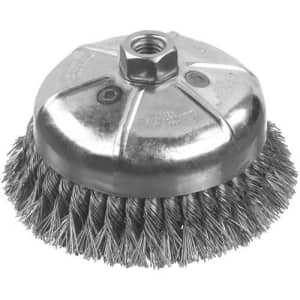 DEWALT DW49157 3-Inch by 5/8-Inch-11 XP .014 Carbon Knot Wire Cup Brush for $15