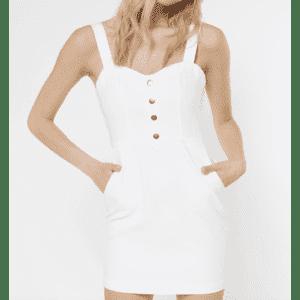 Rue21 Women's Denim Snap-Front Dress w/ Pockets for $7