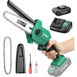 "Kimo 6"" 20V Cordless Chainsaw for $50"