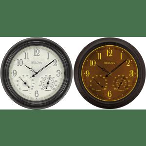 "Bulova Weather Master 18"" Illuminated Outdoor Wall Clock for $80"