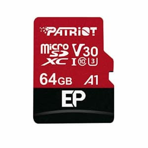 Patriot 64GB A1 / V30 Micro SD Card for Android Phones and Tablets, 4K Video Recording - for $22