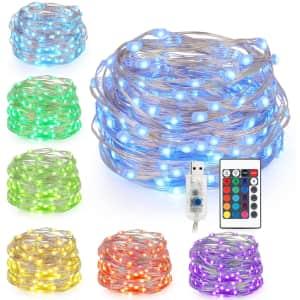 Kohree 33-Ft. LED Fairy String Lights for $17