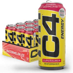 C4 Energy Drink 16-oz. 12-Pack for $21 via Sub & Save