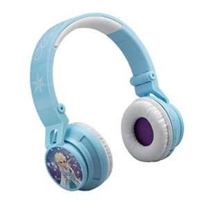 eKids Frozen Bluetooth Headphones Disney Movie Wireless Kid Friendly Sound with Anna & Elsa Graphics for $30
