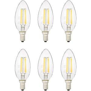 AmazonBasics 40W-Equivalent Dimmable LED Bulb 6-Pack for $8.60 w/ Prime