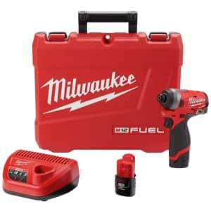 "Milwaukee M12 FUEL 12V 1/4"" Impact Driver Kit + Free Tool for $170"