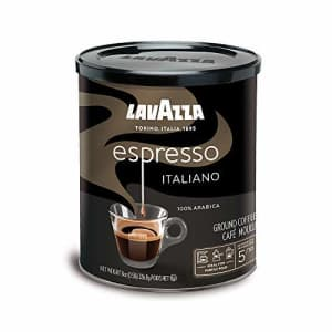 Lavazza Espresso Italiano Ground Coffee Blend, Medium Roast, 8-Ounce Cans,Pack of 4 (Packaging may for $23