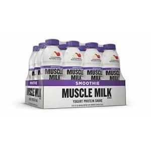 Muscle Milk Smoothie Protein Yogurt Shake, Strawberry Banana, 25g Protein, 15.8 FL OZ, 12 Count for $53