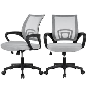 Easyfashion Mesh Mid-Back Office Chair 2-Pack for $99