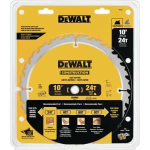 "DeWalt 10"" x 5/8"" Carbide Circular Saw Blade for $9.99 for members"