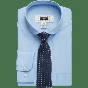 Joseph Abboud Boys' Dress Shirt & Tie Set for $5