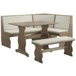 Linon Home Decor Nina Cushioned Solid Wood Nook for $420
