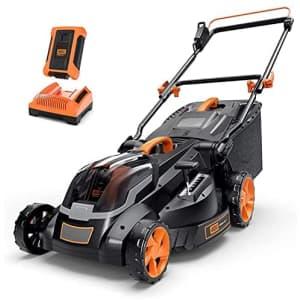 "Tacklife 40V Cordless 16"" Lawn Mower for $240"