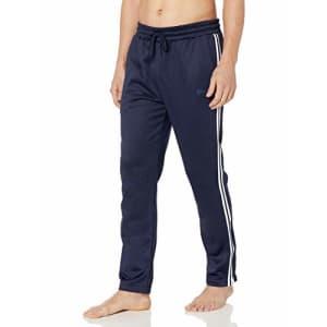 Spalding Men's Activewear Jogger Sweatpant, Peacoat-Side Zip, S for $47