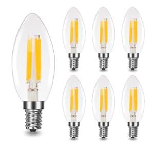 4W Chandelier LED Light Bulb 6-Pack for $14