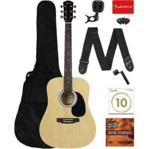 Fender Squier Dreadnought Acoustic Guitar Bundle for $140