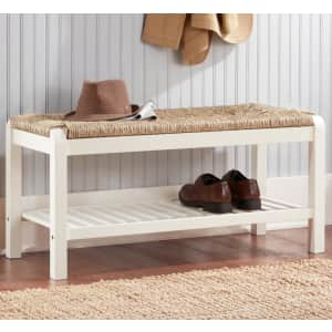 """Home Decorators Collection Dorsey 38"""" Wood Storage Bench for $161"""