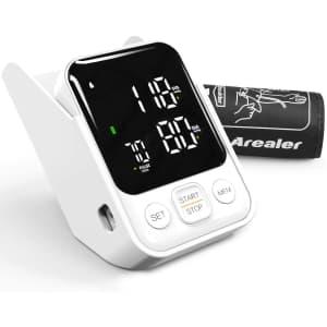 Arealer Digital Blood Pressure Monitor for $16