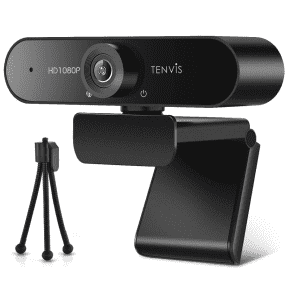 Tenvis 1080p Business Webcam with Mic & Tripod for $16