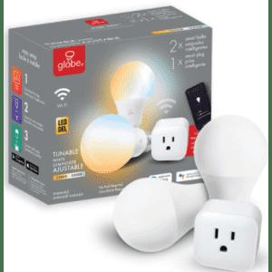 Globe Electric A19 E26 Tunable Smart LED Bulb 3pc Kit for $30