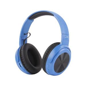 Altec Lansing MZX701- Blue Rumble Bass Boosted Over Ear Bluetooth Headphones with Omnidirectional for $59