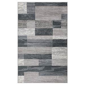 SUPERIOR Rockwood Modern Geometric Patchwork Polypropylene Indoor Area Rug or Runner with Jute for $198