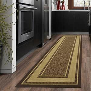 """Ottomanson OTH2208-2X7 Ottohome Bordered Runner Rug, 1'10"""" X 7', Chocolate Brown, 7 Feet for $36"""