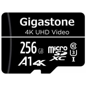 Gigastone 256GB Micro SD Card, 4K UHD Video, Surveillance Security Cam Action Camera Drone for $30
