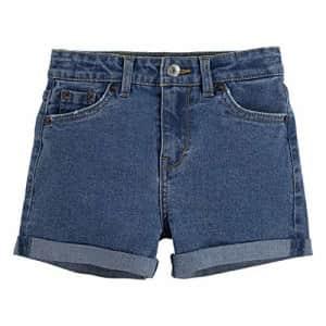 Levi's Girls' Little High Rise Denim Shorty Short, Strummer, 6X for $14