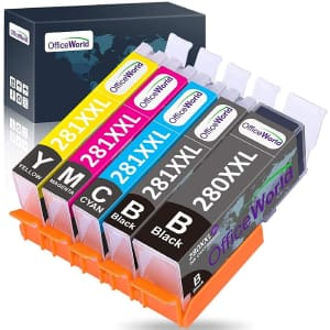 OfficeWorld Replacement Ink Cartridges for Canon 280 and 281 for $13