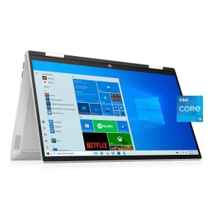 """HP Pavilion x360 11th-Gen. i5 15.6"""" 2-in-1 Touch Laptop for $649 for members"""