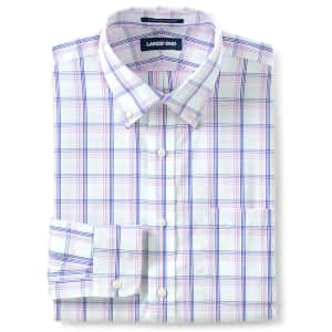 Lands' End Men's Traditional Fit No Iron Button-Down Collar Dress Shirt from $12
