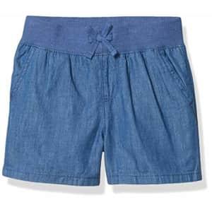The Children's Place Girls' Denim Pull On Shorts Denim Wash C1 16 slim for $9