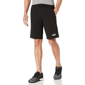 """PUMA Men's Essentials+ 10"""" Shorts, Black, S for $14"""