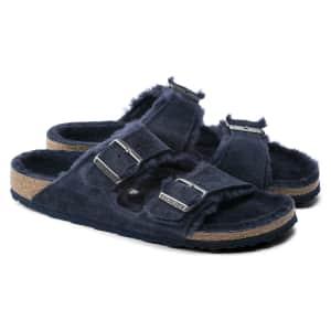 Birkenstock Men's Arizona Shearling Suede Sandals for $90