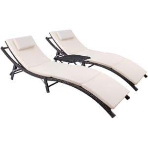 Devoko Patio Chaise Lounge Set for $196