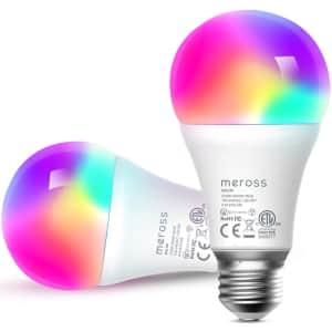 Meross Smart LED Light Bulb 2-Pack for $13