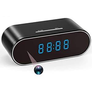 Shinwinly WiFi Hidden Camera Clock for $25