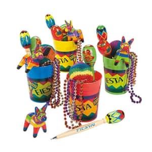 Fun Express Fiesta Fun Cups - 4 cups each filled with 6 party favors - Cinco de Mayo Party Supplies for $25