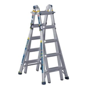 Werner 22-Foot Reach IAA Aluminum 5-in-1 Multi-Position Pro Ladder for $179