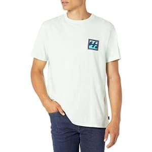 Billabong Men's Short Sleeve Premium Logo Graphic T-Shirt, Crayon Wave Seaglass, XX-Large for $24
